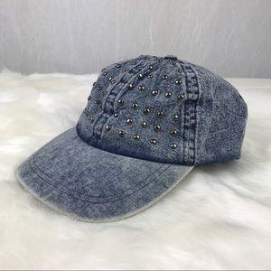 🔥NEW🔥 Forever 21 studded denim hat